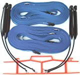 Home Court Volleyball Non-Adjustable Sand Boundary Web, Blue, 1''