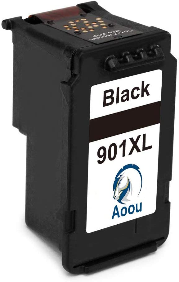 Aoou 901 XL 901XL 901 Ink Cartridges Compatible for HP 901 XL Ink,Work with HP Officejet 4500 G510a 4500 G510g 4500 G510n J4500 J4524 J4540 J4550 J4580 J4624 J4640 J4660 Printer 2 Black