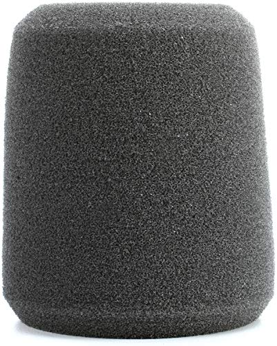 Shure A1WS Gray Foam Windscreen for all 515 Series, BETA 56A and BETA 57A, Black