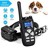 Shock Collar for Dogs, Waterproof 1600FT Dog Shock Collar with Remote, Shock Collar for Large Dogs and Small Dogs, 3 Training Modes Beep Vibration and Shock, Rechargeable Dog Training Collar