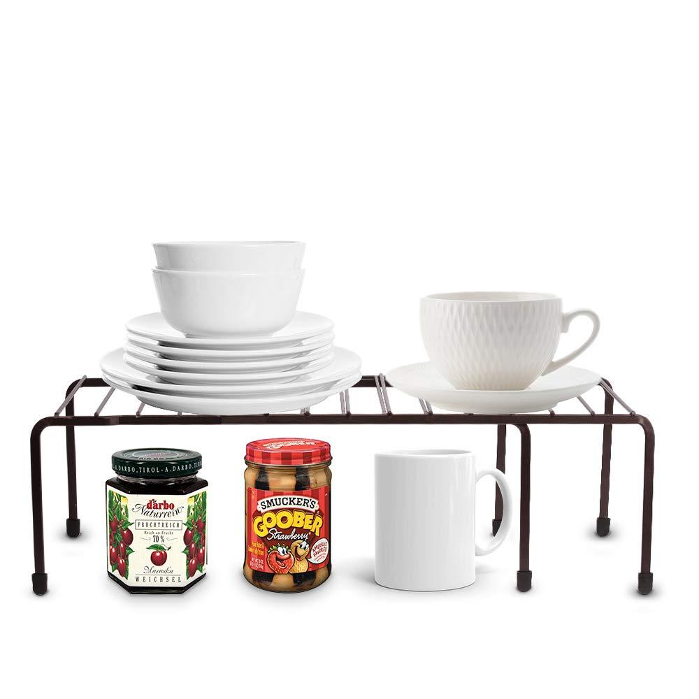 Baskiss Kitchen Storage Cabinet Shelf, Pantry Cabinet Organizer, Metal Frame, for Kitchen, Bathroom, Pantry, Closet, Countertop (Coffee)