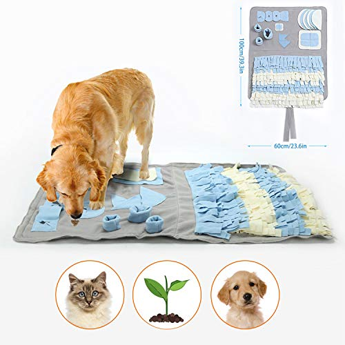 Snuffle Mat for Dogs Handmade Dog Training Mat Play Mat Dog Nosework Blanket Encourages Natural Foraging Skills (100x60cm) by GUSTYLE (Image #6)
