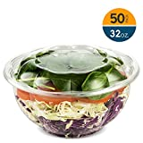 32 Ounce Clear Plastic Disposable Salad