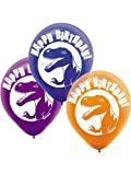 Prehistoric Dinosaur Party Printed Latex Balloons – 6 ct, Health Care Stuffs