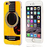 VoMoTec iPhone 6s Case,iPhone 6 Case, [Cute Series] Shockproof Anti-Scratch Slim Flexible Soft TPU Protective Skin Cover Case for iPhone 6 6s 4.7 inch,Funny Yellow Acoustic Guitar