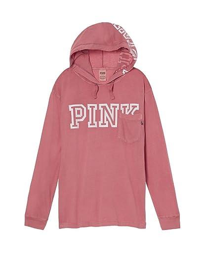 b8e9367f05fc Amazon.com  Victoria s Secret PINK Campus Hoodie Tee  Clothing