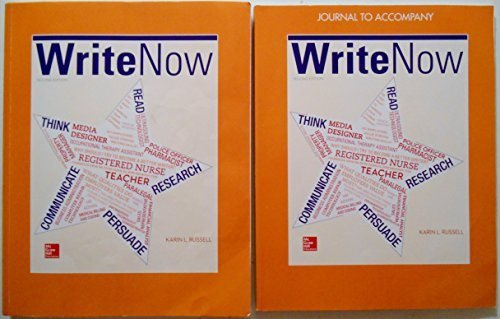Write Now, 2nd Edition w/ Journal for Keiser University