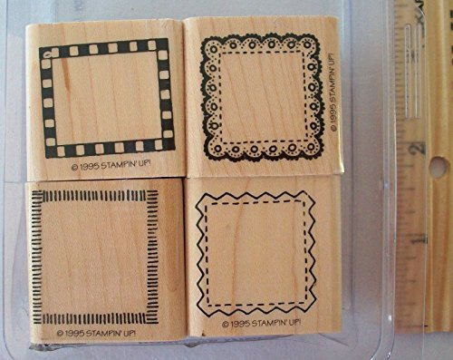 Stampin' Up! Borders Mini Set of 4 Rubber Mounted Stamps ()