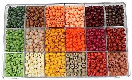 Bead Extravaganza 6261 Bead Pony Extravaganza Earthtones Box (2300 Pack), Multicolor ()