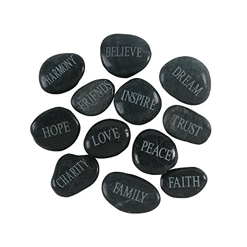 Oalas Bulk Handmade Decorative Faith Stone 1 Dozen
