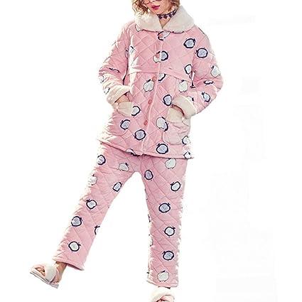 9bfaee660a8 Pajamas, Winter Postpartum Thickening Plus Velvet Maternity Pajamas, Autumn  and Winter Coral Fleece Breastfeeding
