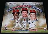 JIM RICE DWIGHT EVANS FRED LYNN SIGNED BOSTON RED SOX 1975 OUTFIELD 16x20 PHOTO - Autographed MLB Photos