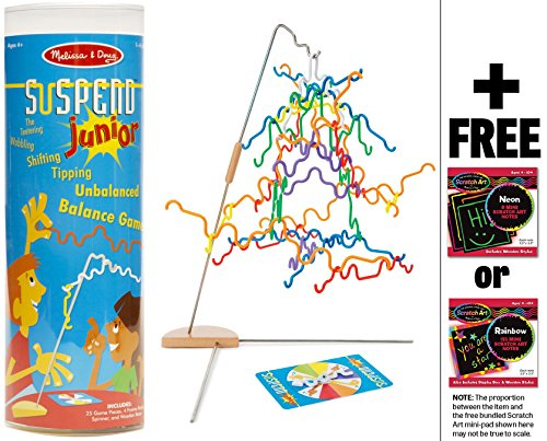 Melissa & Doug Suspend Junior - Family Game & 1 Scratch Art Mini-Pad Bundle (04276)