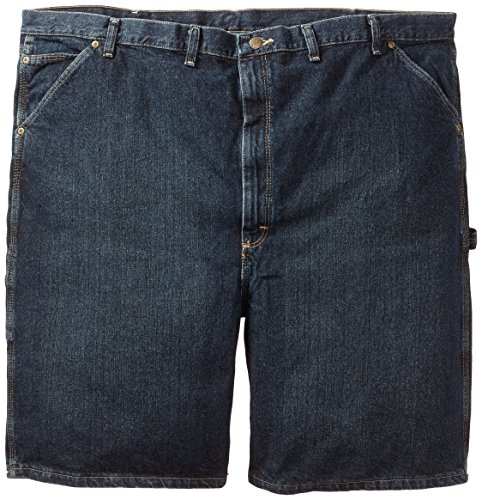 Wrangler Men's Extra Big Rugged Wear Carpenter Short Dark Quartz,52 (Wrangler Blue Dark Denim)