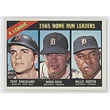 Tony Conigliaro; Norm Cash; Willie Horton (Baseball Card) 1966 Topps - [Base] #218