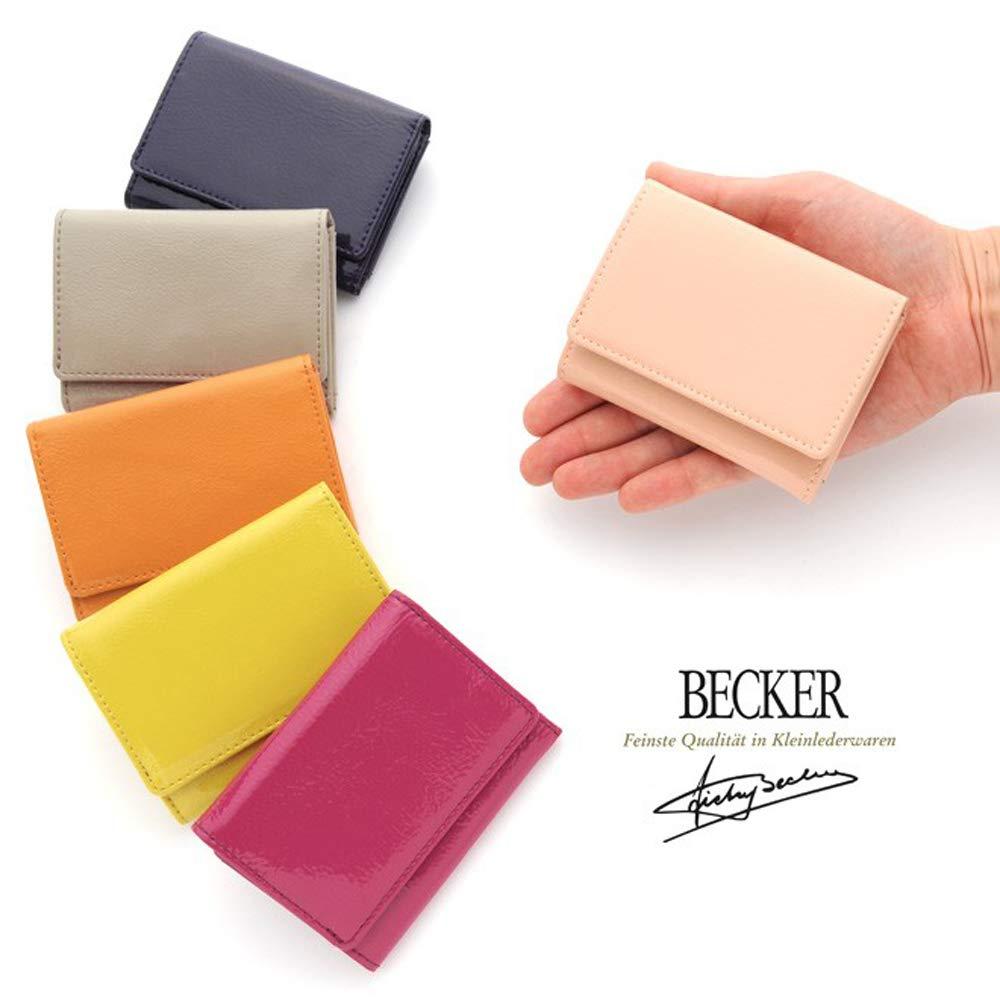 1776212977ab Amazon | 極小財布(エナメル/牛革)ベーシック型小銭入れ BECKER(ベッカー)日本製 (イエロー) | BECKER(ベッカー) | 財布