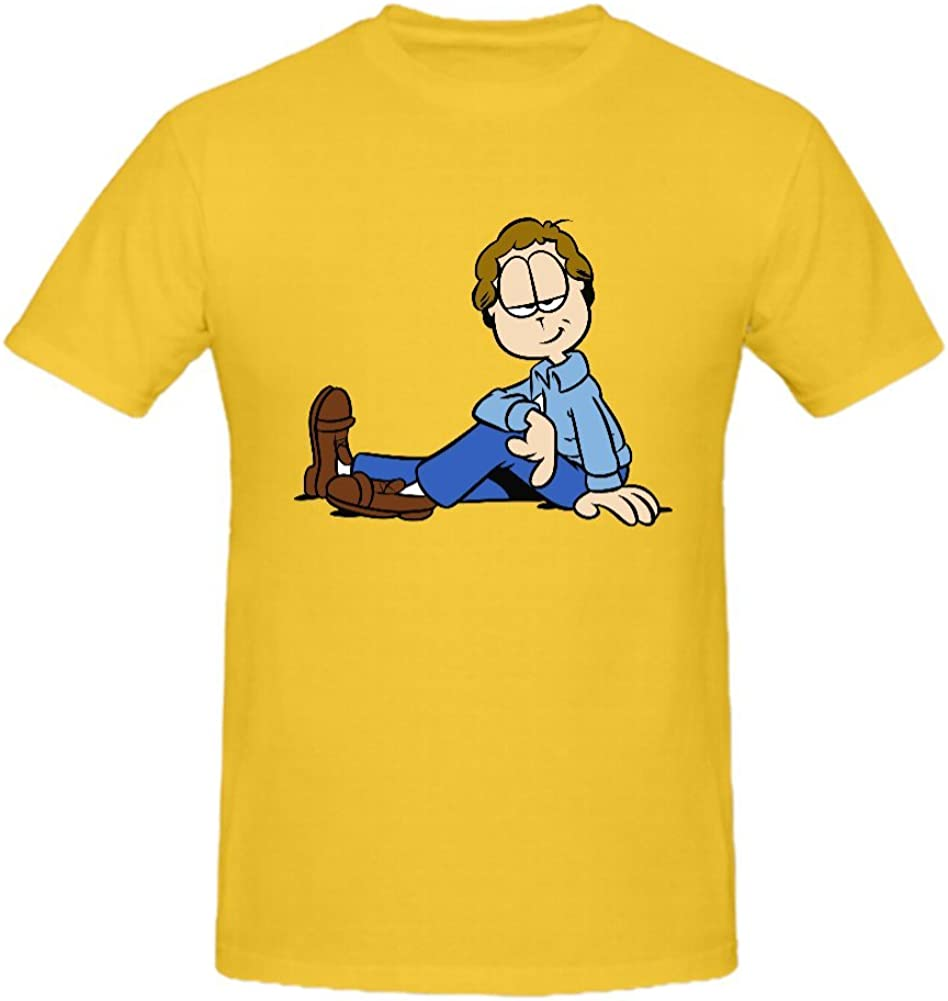 Freddy Personality Short Sleeve Jon Arbuckle Organic Cotton Men's T Shirts