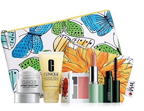 Clinique 7-Piece Makeup Skincare Gift Set Blue Butterfly Bag (Cool) (Clinique 7 Piece)