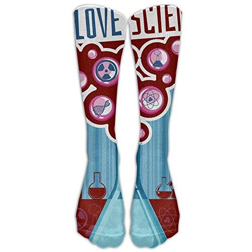 e Science Long Stockings Unisex Athletic Sport Tube Socks(40cm) ()