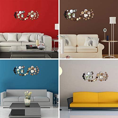 Adesivo da parete 3D specchio rotondo rimovibile sfondo decorazione per la casa camera da letto
