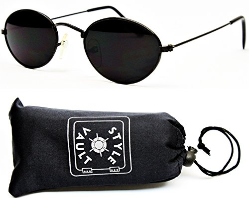 V3024-OP Style Vault Round Sunglasses (50416 Black) (2)