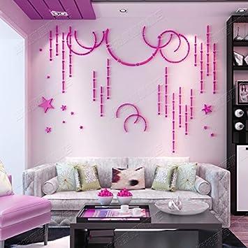 Amazon.com: Generic Warm sky 3D acrylic wall stickers walls bedroom ...