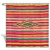 CafePress Vintage Pink Mexican Serape Decorative Fabric Shower Curtain (69''x70'')