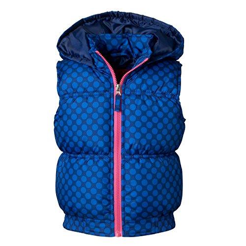- Pink Platinum Girls Puffer, Pink/Black Cheetah Print, Cute Winter Vest for Kids