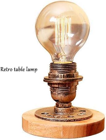 CUTELOVE Industrial Antigua Edison Bombilla Lámpara Loft Vintage Retro Lampara de mesa Regulable Lámpara luz de Noche luces con Hierro Decoración E27: Amazon.es: Iluminación