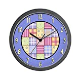 CafePress – Patchwork Quilt – Unique Decorative 10″ Wall Clock For Sale