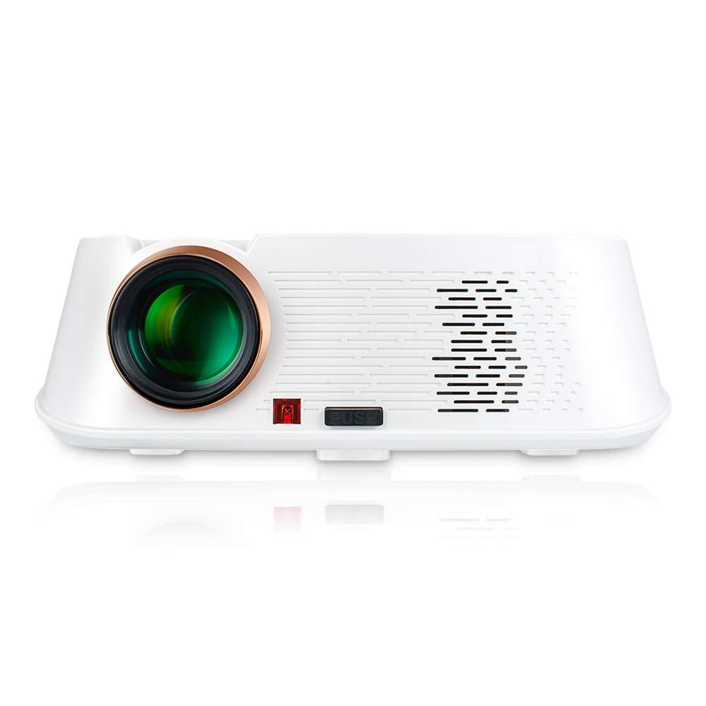 プロジェクターDLP HD1080P 3500ルーメン3D Wifiホームシアターオフィス教育パーティゲーム対応携帯電話PC USBフラッシュドライブDVD Mp4 / 5カメラ B07T2JY5ZL White