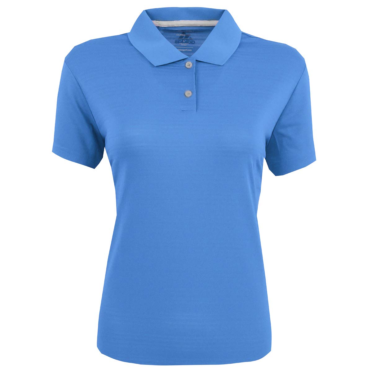 adidas Golf Womens Climalite Textured Short-Sleeve Polo (A162) -Gulf -S