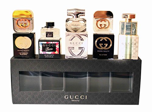 Amazon.com : Gucci Minis Set Women 0.17oz / 5ml + Flora, Bamboo, Guilty, Premiere : Beauty