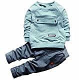 MAXIMGR Toddler Baby Boys Girls Sweatshirt Tops+Pants Cartoon Outfits Clothes