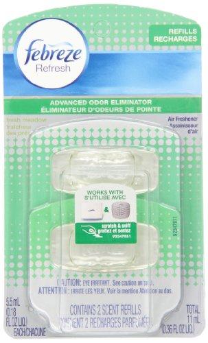 Febreze Refresh Air Freshener Refills Twin Pack, Fresh Meadows, 0.36 Ounce