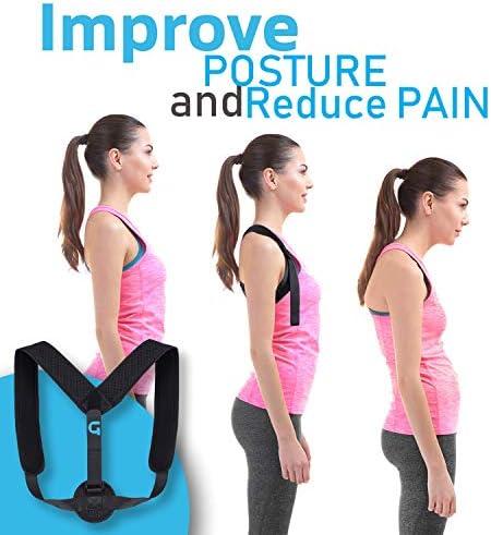 Granduxe Posture Corrector for Women  Upper Back Brace Posture Corrector for Men  Women Provides