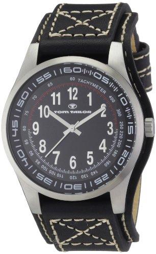 TOM TAILOR Herren-Armbanduhr XL Analog Leder 5407301