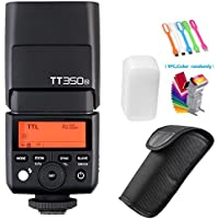 Godox TT350N 2.4G HSS High-Speed Sync 1/8000s TTL GN36 Flash Speedlite Light Compatible Nikon Mirrorless Digital Camera(TTL autoflash) +Filters & USB LED