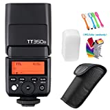 Godox TT350N 2.4G HSS High-Speed Sync 1/8000s TTL GN36 Flash Speedlite Light Compatible Nikon Mirrorless Digital Camera(TTL autoflash) +Filters & USB LED