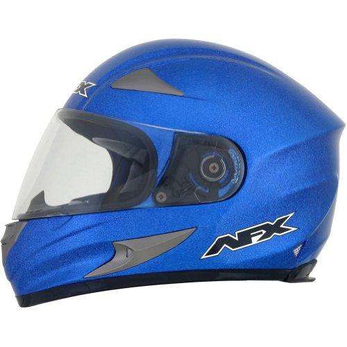 AFX FX-90 Solid Helmet , Gender: Mens/Unisex, Helmet Type: Full-face Helmets, Helmet Category: Street, Distinct Name: Blue Metallic Flake, Primary Color: Blue, Size: Md 0101-6953