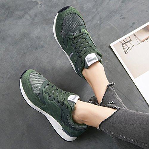 primavera mujer HWF Tamaño de Zapatos Negro de Verde ocasionales Zapatos Zapatos 39 deportivos de mujer transpirables Mujer Zapatos malla Color para zxpYrwz