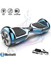 COLORWAY Hoverboard Flash-Rad Balance Elektro Scooter Roller EU Sicherheitsstandard, mit Bluetooth Lautsprecher und LED-Lichter