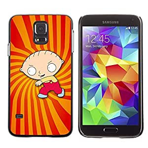 Design for Girls Plastic Cover Case FOR Samsung Galaxy S5 Cartoon Character Boy Drawing Childrens OBBA