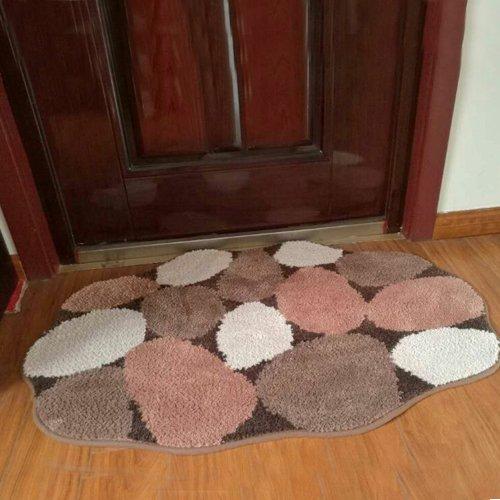 Fiber mats absorbent bathroom mat door mat waterproof kitchen bathroom door mat -5080cm b by ZYZX