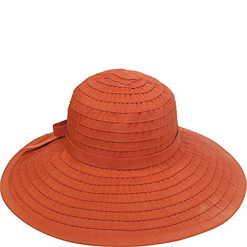 San Diego Hat Company Women's RBL299 Crushable Ribbon Floppy Hat Rust One Size -