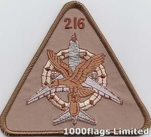 No 216escuadrón Royal Airforce operaciones Lockheed TriStar desierto bordadas Badge
