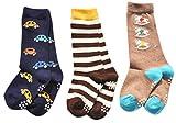 Lian LifeStyle Unisex Baby 3 Pairs Pack Cotton Crew Socks Sizes(1Y-2Y) Cartoon