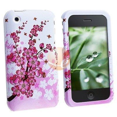 - Spring Flower Clip-on Case Premium Designer Hard Crystal Snap-on Case for Apple iPhone 3G, 3GS 3G-S