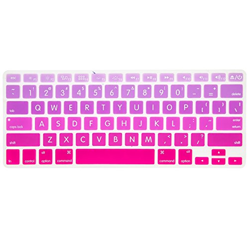Allytech Faded Ombre Series Keyboard Cover Silicone Skin Protector for MacBook Pro 13