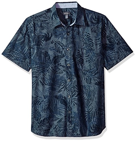 Van+Heusen+Men%27s+Never+Tuck+Short-Sleeve+Shirt%2C+Blue%2C+L